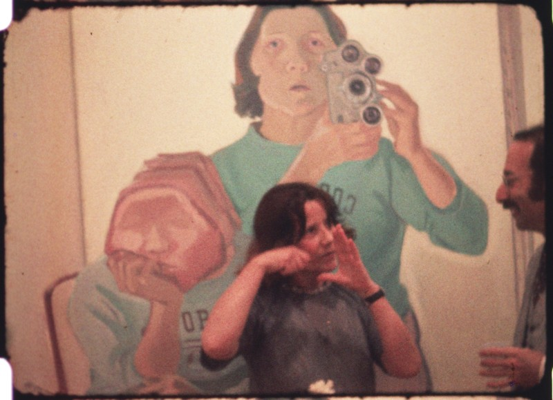 Maria Lassnig in Stone Lifting. A Self Portrait in Progress (1971–75, Maria Lassnig) © Maria Lassnig Stiftung